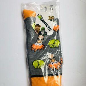The Muppets Beaker/Dr. Bunsen Crew Socks 8-12 NEW